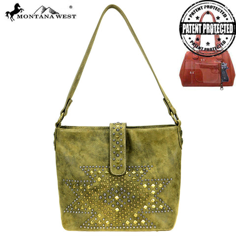 MW854G-918  Montana West Aztec Collection Concealed Carry Hobo