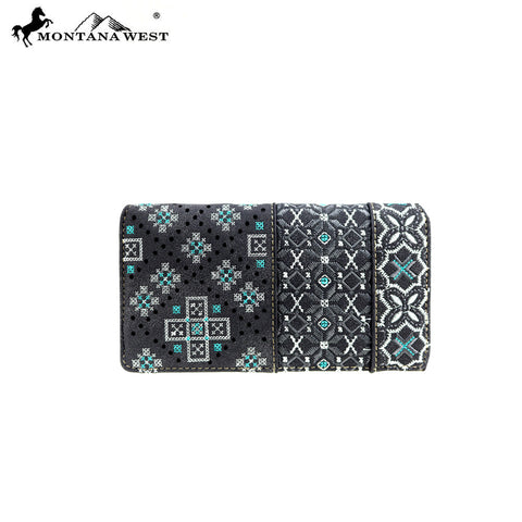 MW855-W010 Montana West Embroidered Collection Wallet