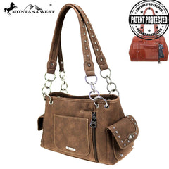 MW855G-8085  Montana West Embroidered Collection Concealed Carry Satchel