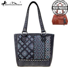 MW855G-8317  Montana West Embroidered Collection Concealed Carry Tote