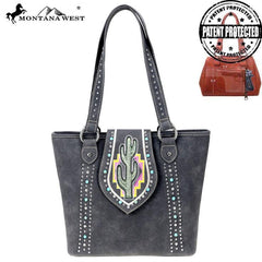 MW860G-8317 Montana West Cactus Collection Concealed Carry Tote