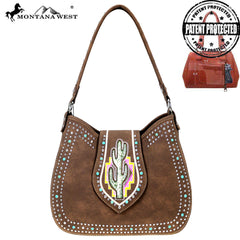 MW860G-918 Montana West Cactus Collection Concealed Carry Hobo