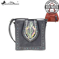 MW860G-9360  Montana West Cactus Collection Concealed Carry Crossbody Bag
