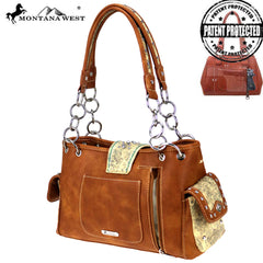 MW861G-8085  Montana West Buckle Collection Concealed Carry Satchel