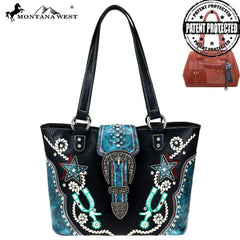MW861G-8317  Montana West Buckle Collection Concealed Carry Tote
