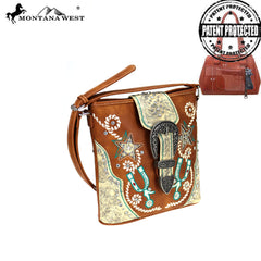 MW861G-9360  Montana West Buckle Collection Concealed Carry Crossbody Bag