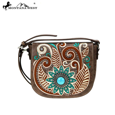 MW862-8360 Montana West Embroidered Collection Crossbody