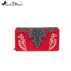MW863-W010 Montana West Embroidered Collection Wallet