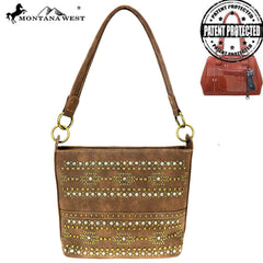 MW864G-918  Montana West Aztec Collection Concealed Carry Hobo