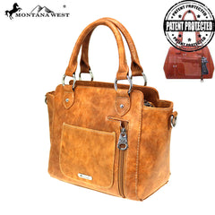 MW865G-8250  Montana West Aztec Collection Concealed Carry Satchel/Crossbody Bag