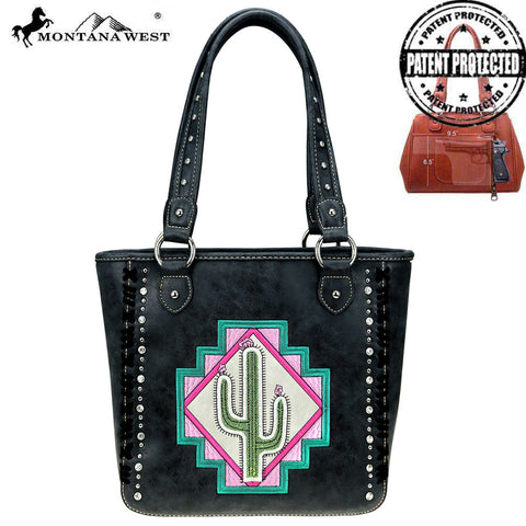 MW865G-8305  Montana West Aztec Collection Concealed Carry Tote Bag