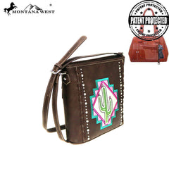 MW865G-9360  Montana West Aztec Collection Concealed Carry Crossbody Bag