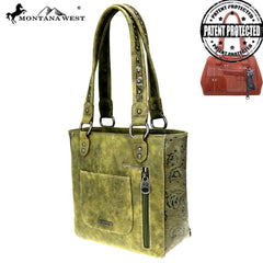 MW866G-8305  Montana West Cactus Collection Concealed Carry Tote