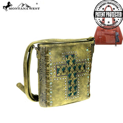 MW866G-9360  Montana West Cactus Collection Concealed Carry Crossbody Bag