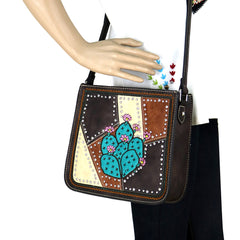 MW878G-9360  Montana West Cactus Collection Concealed Carry Crossbody Bag