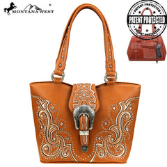 MW879G-8005 Montana West Buckle Collection Concealed Carry Tote