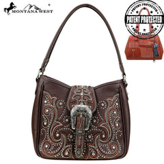 MW879G-918 Montana West Buckle Collection Concealed Carry Hobo