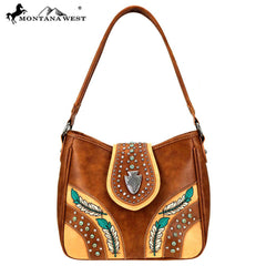 MW881G-918 Montana West Concho Collection Concealed Carry Hobo