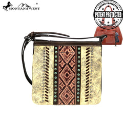 MW882G-9360  Montana West Embossed Collection Concealed Carry Crossbody Bag