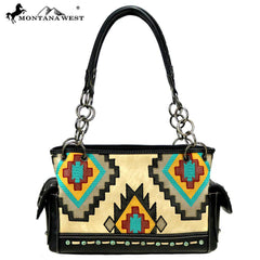 MW883G-8085  Montana West Embroidered Collection Concealed Carry Satchel
