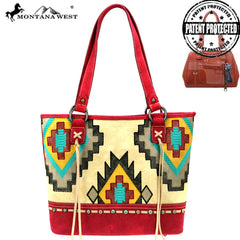 MW883G-8317 Montana West Aztec Collection Concealed Carry Tote