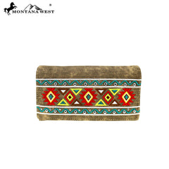 MW885-W010 Montana West Aztec Collection Wallet