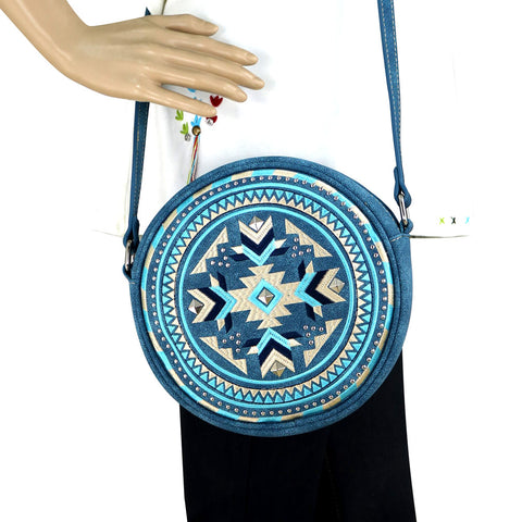 MW889-118 Montana West  Aztec Collection Western Canteen Bag