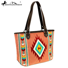 MW891-8317 Montana West Aztec Collection Tote