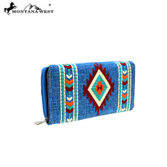 MW891-W010 Montana West Aztec Collection Wallet