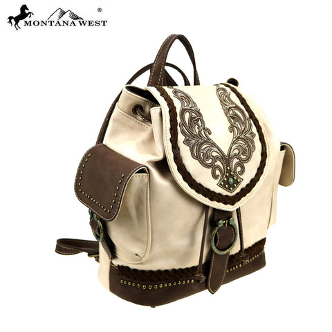 MW892-9110 Montana West Embroidered Collection Backpack