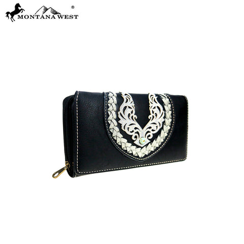 MW892-W010 Montana West Embroidered Collection Wallet