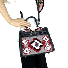 MW893-8288 Montana West Aztec Collection Sacthel/Crossbody