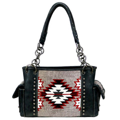MW893G-8085 Montana West Aztec Collection Concealed Carry Satchel