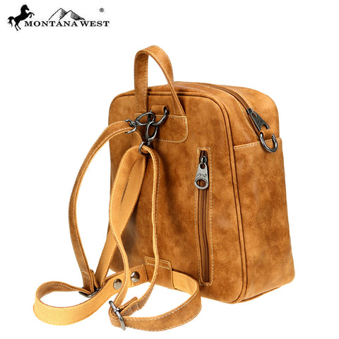 MW894-9110  Montana West Concho Collection Backpack/Crossbody