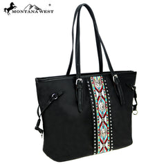 MW897-8317 Montana West Aztec Collection Tote