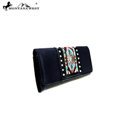 MW897-W018 Montana West Aztec Collection Wallet/Wristlet