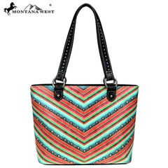 MW899G-8317 Montana West Aztec Collection Concealed Carry Tote