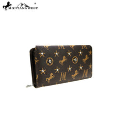 MW902-W010 Montana West Signature Monogram Collection Wallet