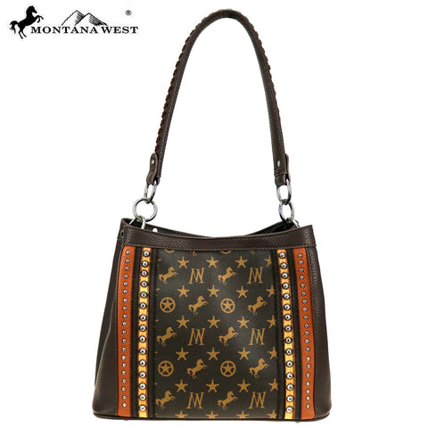 MW903-121 Montana West Signature Monogram Collection Hobo/Crossbody