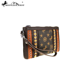 MW903-181 Montana West Signature Monogram Collection Clutch/Wristlet