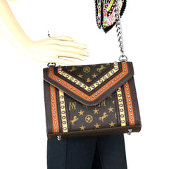 MW903-8287 Montana West Signature Monogram Collection Crossbody