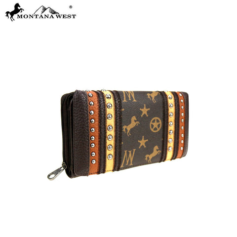 MW903-W010 Montana West Signature Monogram Collection Wallet