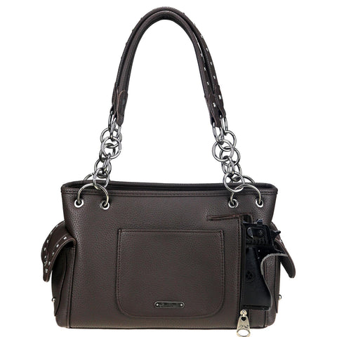 MW903G-8085 Montana West Signature Monogram Collection Concealed Carry Satchel