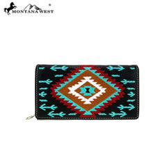 MW904-W010 Montana West Aztec Collection Wallet