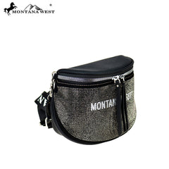 MW905-8360 Montana West Bling Crossbody/Belt Bag