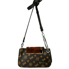 MW907-181 Montana West Signature Monogram Convertible Shoulder Bag