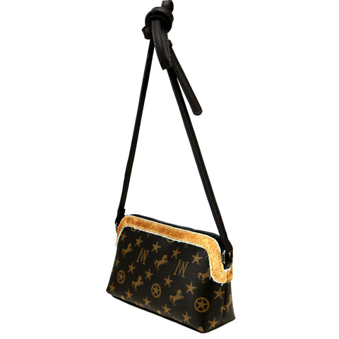 MW907-182 Montana West Signature Monogram Crossbody