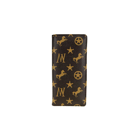 MW907-184 Montana West Signature Western Monogram Slim Card Case Wallet