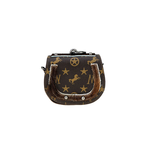 MW907-188 Montana West Signature Monogram Key Ring Mini Bag/Crossbody