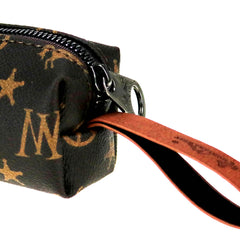 MW907-189 Montana West Signature Monogram Oblong Cosmetic Case